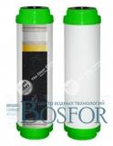 Картридж с активированным углем и засыпкой KDF Aquafilter FCCBKD